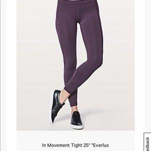 lululemon athletica Pants - Lululemon in movement 25 inch everlux purple